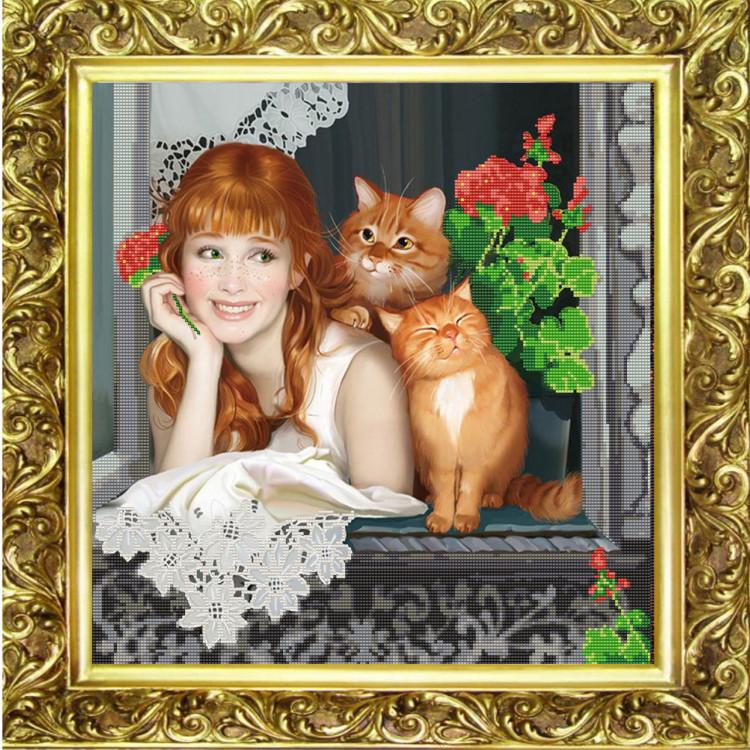 Открытки женщина и кошка